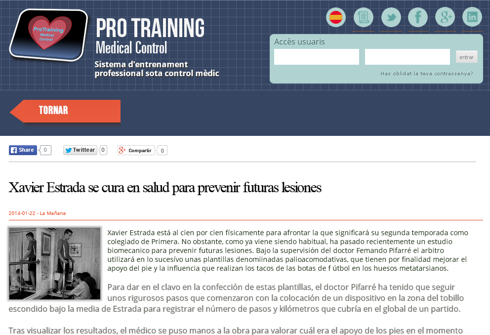 Pro Training Medical Control